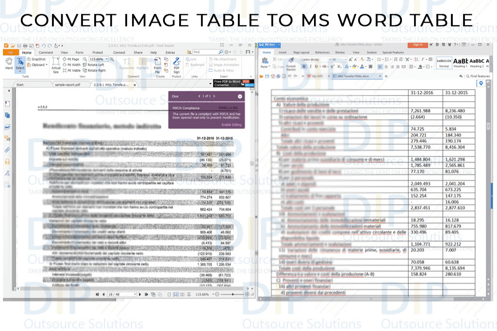 Data Entry - Image to Word Conversion