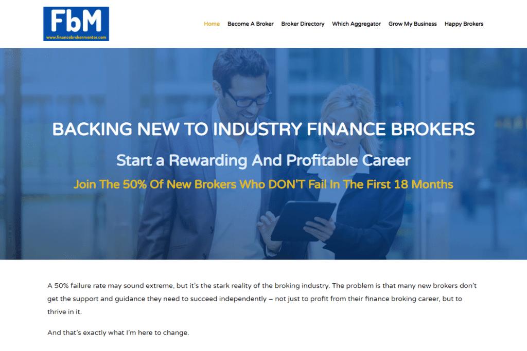 Finance Broker Mentor - Web Design in WordPress with Elementor