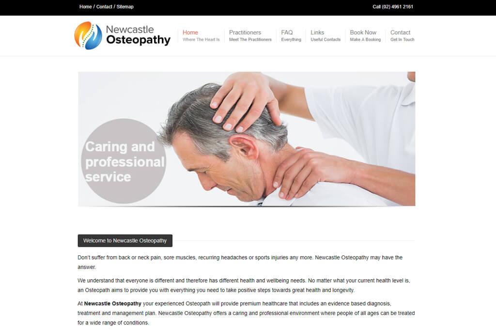 NewCastle-Osteopathy - Responsive WordPress Website