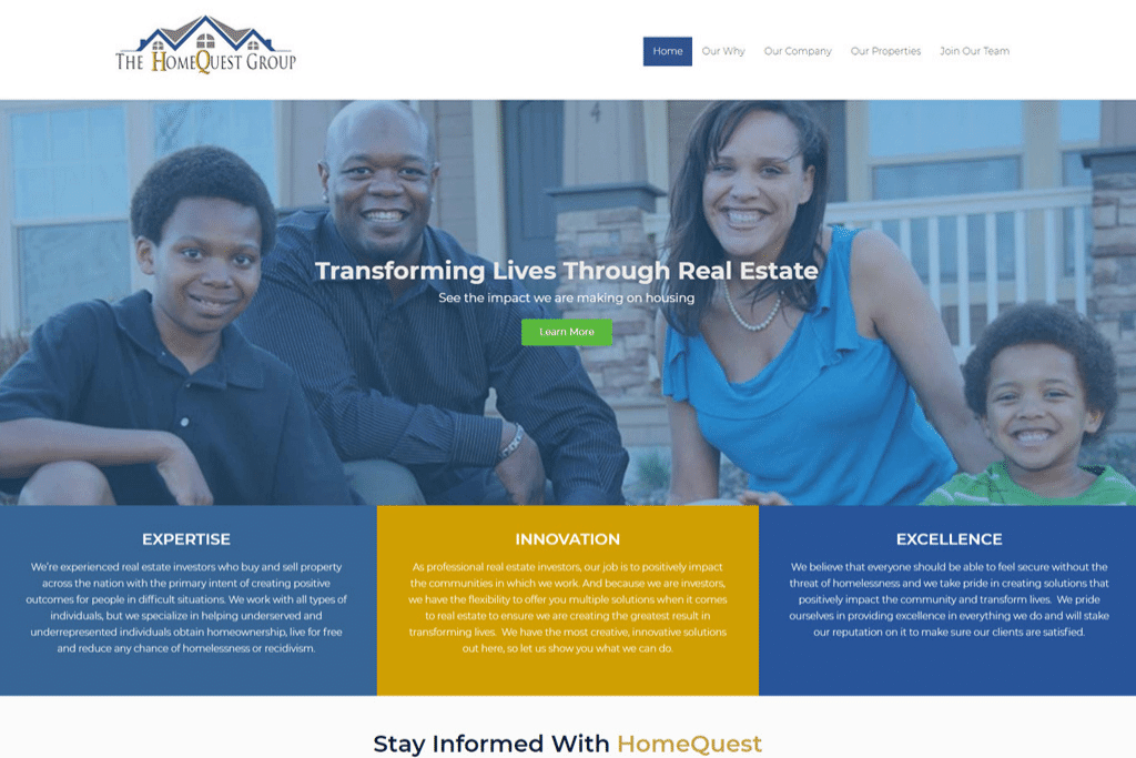 The Home Quest Group - Responsive WordPress Website