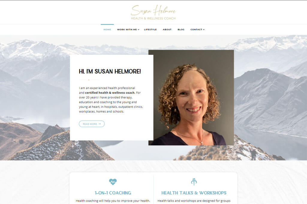 susanhelmore.com website