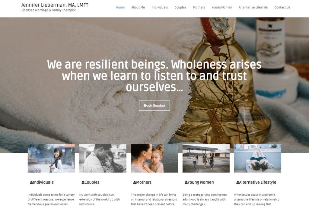 Portfolio - Jennifer Lieberman MFT Website