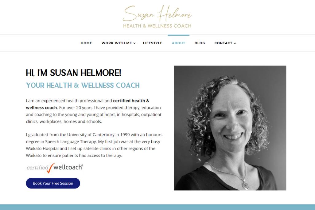 Susan Helmore Responsive Website