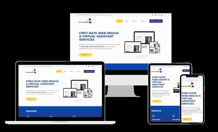 Dipoutsourcewebdesign.com web design